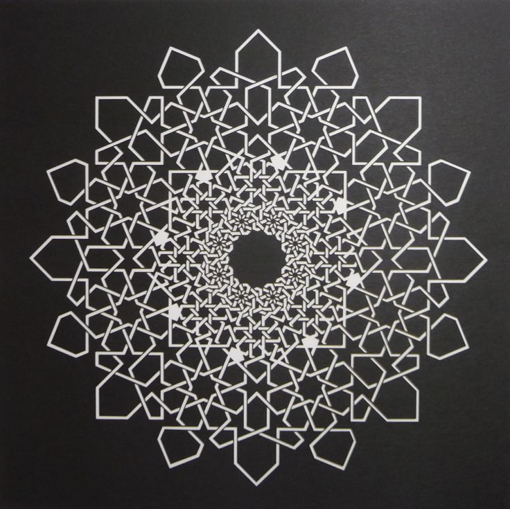 Islamic Fractal Star – Interlaced Version / Sacred Geometry <3