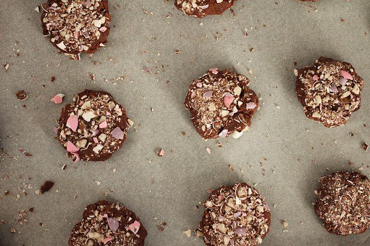 Choko pebermynte cookies