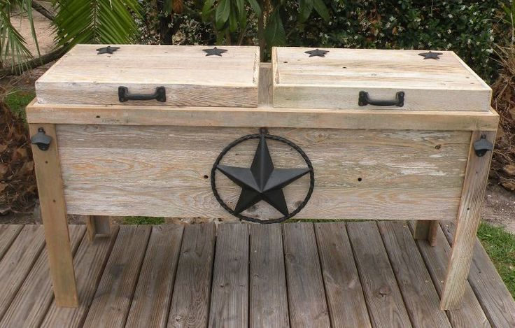 ... Cooler on Pinterest | Wooden Ice Chest, Patio Cooler and Pallet Cooler