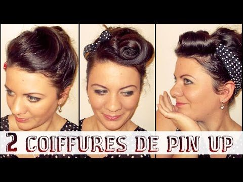 15 pingles coiffure de pin up incontournables victory rolls coiffures vintage et coiffure de. Black Bedroom Furniture Sets. Home Design Ideas
