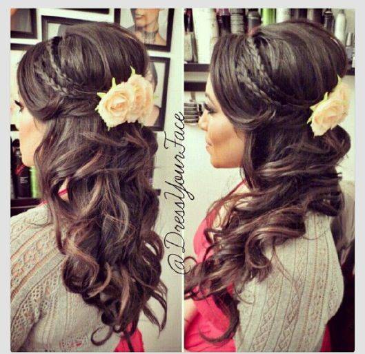 Wedding hair - @Liz Mester Mester Mester Gregovich - another option?  lol I'm searching through pinterest :) but no flower