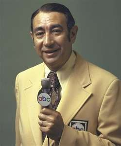 """Howard Cosell - Working career 1953-1993....A sportscasting """"star""""in the 60s and 70s, on ABC Sports. I especially remember him covering the Mohammad Ali boxing matches and his commentating on Monday Night Football. Cosell was a sports journalist who was widely known for his blustery, cocksure personality. Cosell said of himself, """"Arrogant, pompous, obnoxious, vain, cruel, verbose, a showoff. There's no question that I'm all of those things."""" The New York Times stated, """"Howard Cosell entered…"""