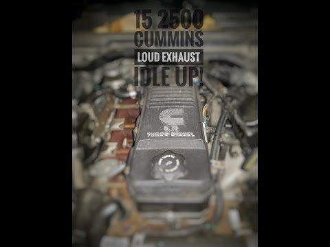 YouTube, truck, Cummins, idle, idle up, loud, loud exhaust, 2500, 2015