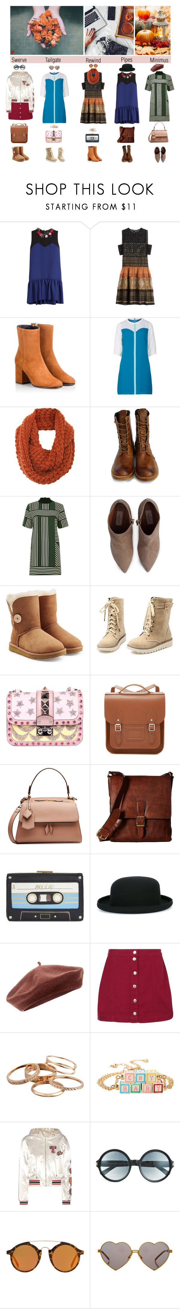 """Fall mini's"" by femme-mecha ❤ liked on Polyvore featuring MSGM, Alberta Ferretti, Fratelli Karida, Sugarhill Boutique, A