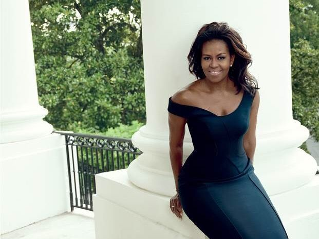 #FirstLady Of The United States #MichelleObama Wearing #Versace #Atelier #Cover Of #VogueMagazine #December2016 #Issue #Vogue #Magazine