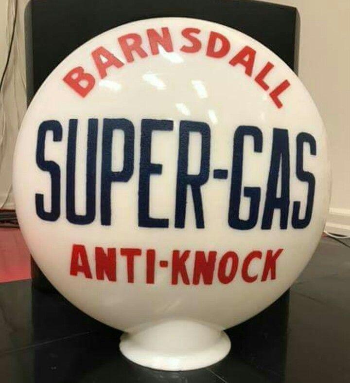Original Barnsdall 1-Piece Gas Globe