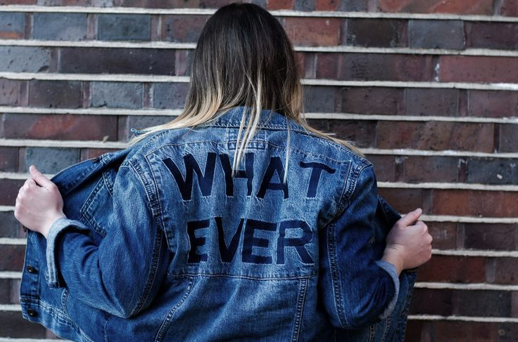 Whatever Jeans Jacket Denim Outfit Blogger #OOTD