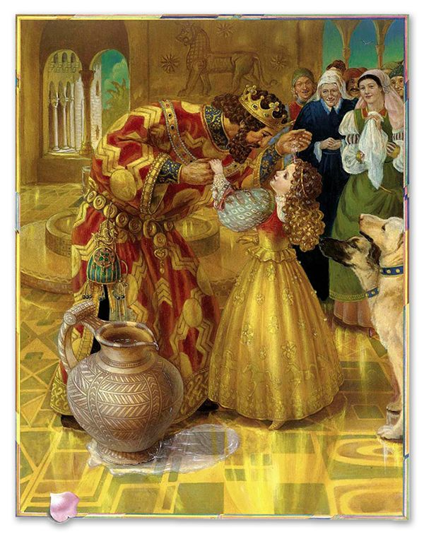 """""""King Midas and the Golden Touch"""" illustrated by Kinuko Y. Craft. Date unknown."""
