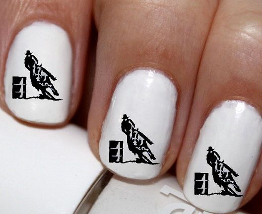 20 pc Horse Racing Barrel Racing Horse Nail Art by EasyNailTrends - The 25+ Best Horse Nail Art Ideas On Pinterest Horse Nails, Shoe