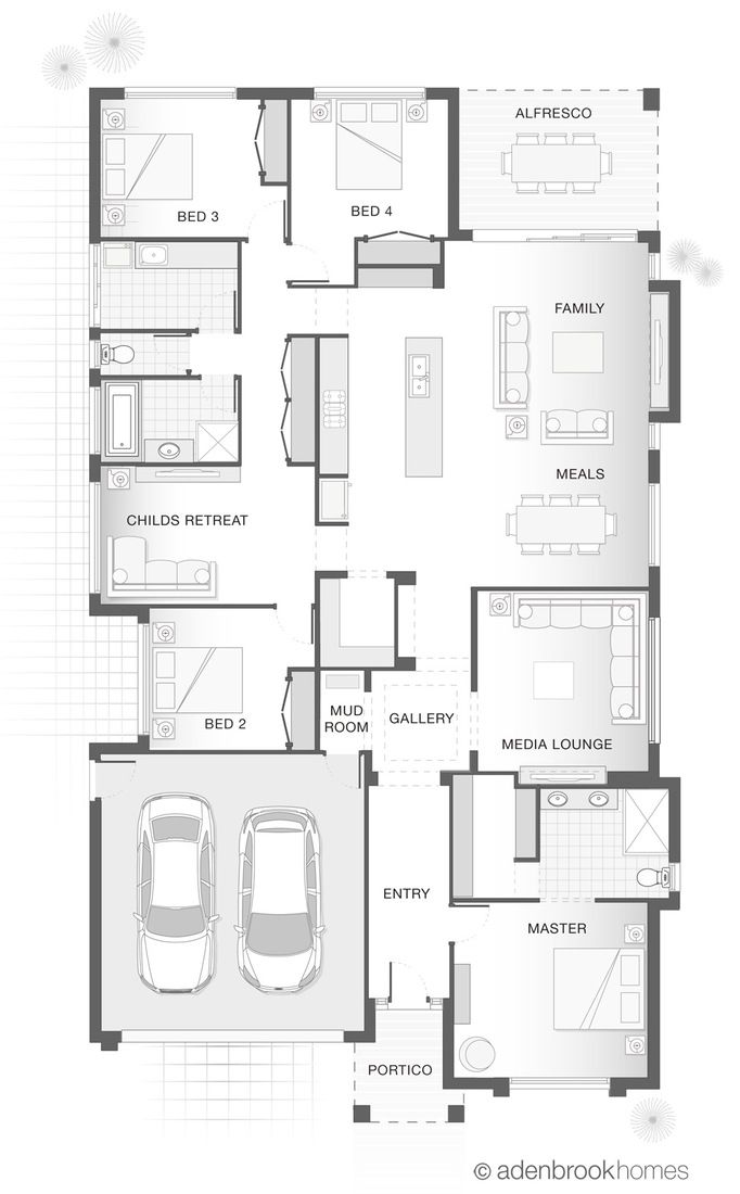 Single Storey Home Design   The ORION by Adenbrook Homes