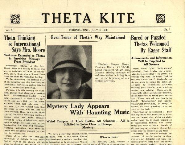 Kappa Alpha Theta 30th Convention, 1930, Toronto, Canada #theta1870