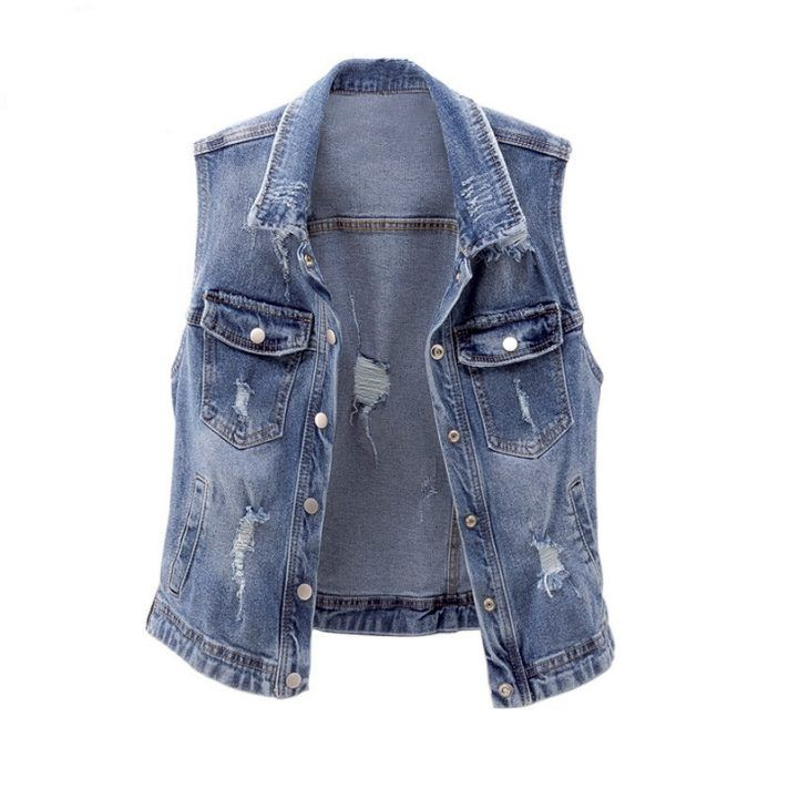 f247bbde9ad0a1 Party Girls Sleeveless Summer Denim Jacket Price  58.77   FREE Shipping Pin  it! Share