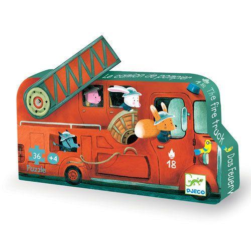 Djeco Πάζλ 'Πυροσβεστικό όχημα' Ηλικία Από 3 μέχρι 5 ετών