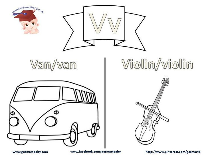 Smart Baby - Coloring the alphabet - letter V v