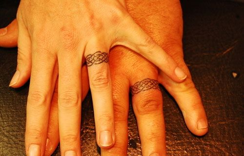 celtic wedding band tattoo designs | celtic rings wedding ring tattoo designs