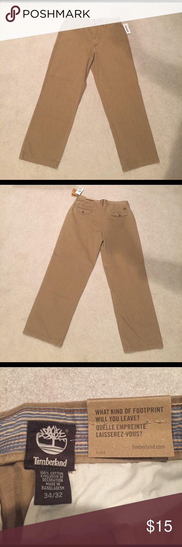 Timberland 34/32 Size Khaki Pants. 34/32 size. Never worn. Brand new with original tags. No rips or stains. Timberland Pants Chinos & Khakis