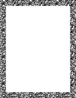 black glitter border page borders