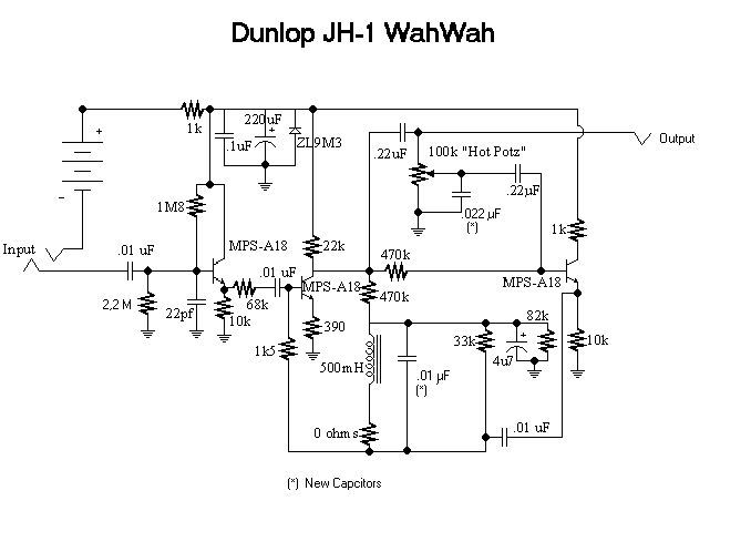 Wah Schematic on