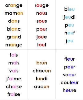 learning to read sound blends grade 1 French Immersion- though it is French...this is a great layout for teaching vocabulary