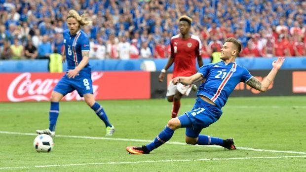 June 23 2016 - Traustason scores late winner v Austria to send underdogs Iceland thru to next round of EURO2016 where they face England