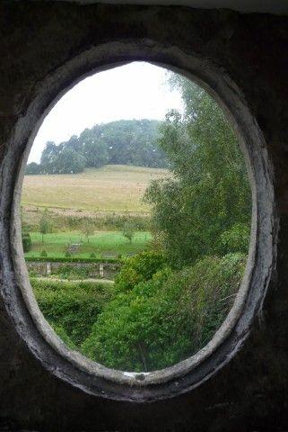 Un oeil de boeuf dans les Cotswolds, Grande Bretagne