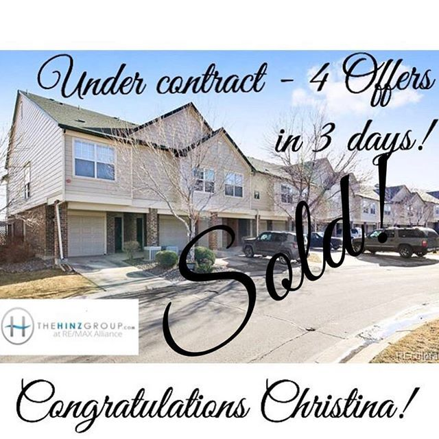 Congratulations to Christina after selling her Saddlebrooke condo for an amazing $339500 - thats $15000 over list price!  Call today if youd like to see what your home is worth!  #TheHinzGroup #DannaHinz #Realestate #Remaxalliance #Remax #homesforsale #coloradorealestate #realestate #realtor #coloradorealtor #colorado #louisvillerealestate #sold #justsold #house #design #luxury #iwantthat #forsale #diy #denver #sold #saddlebrooke #superiorrealstate #superior #soldmycondo #wedidit