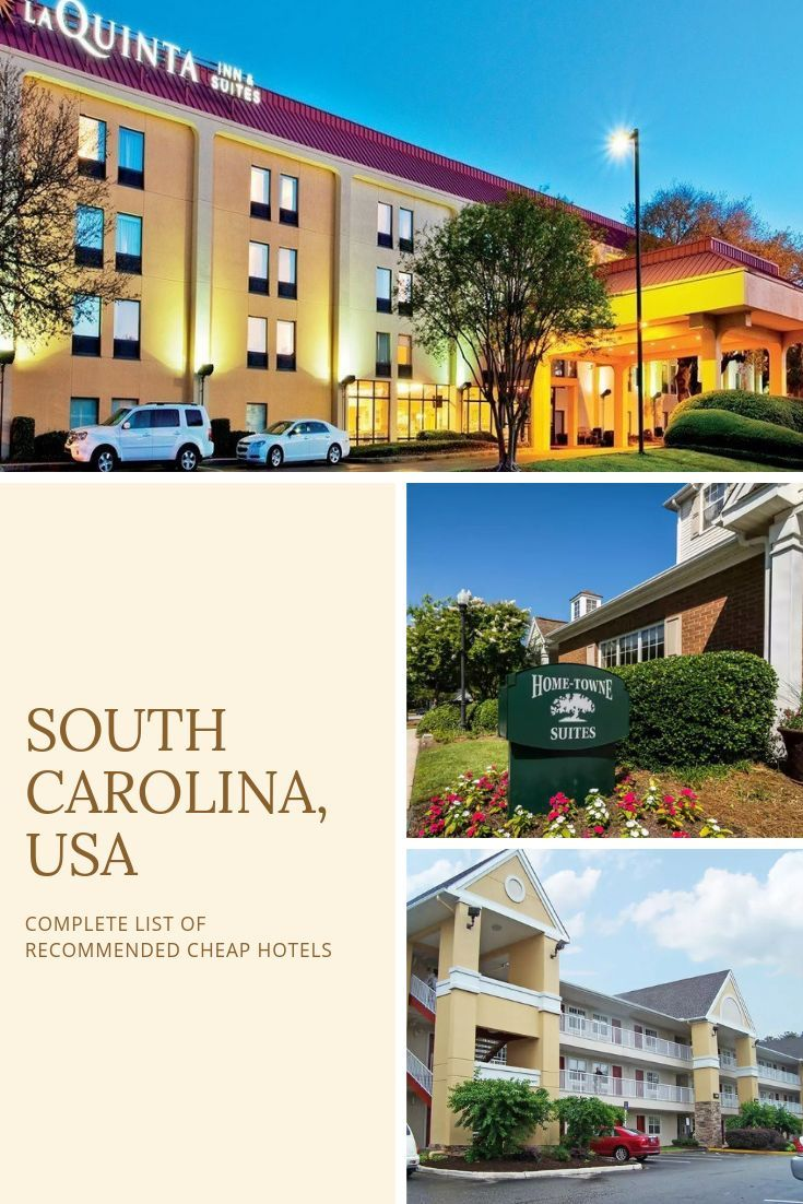complete list of recommended cheap hotels in south carolina usa rh pinterest com