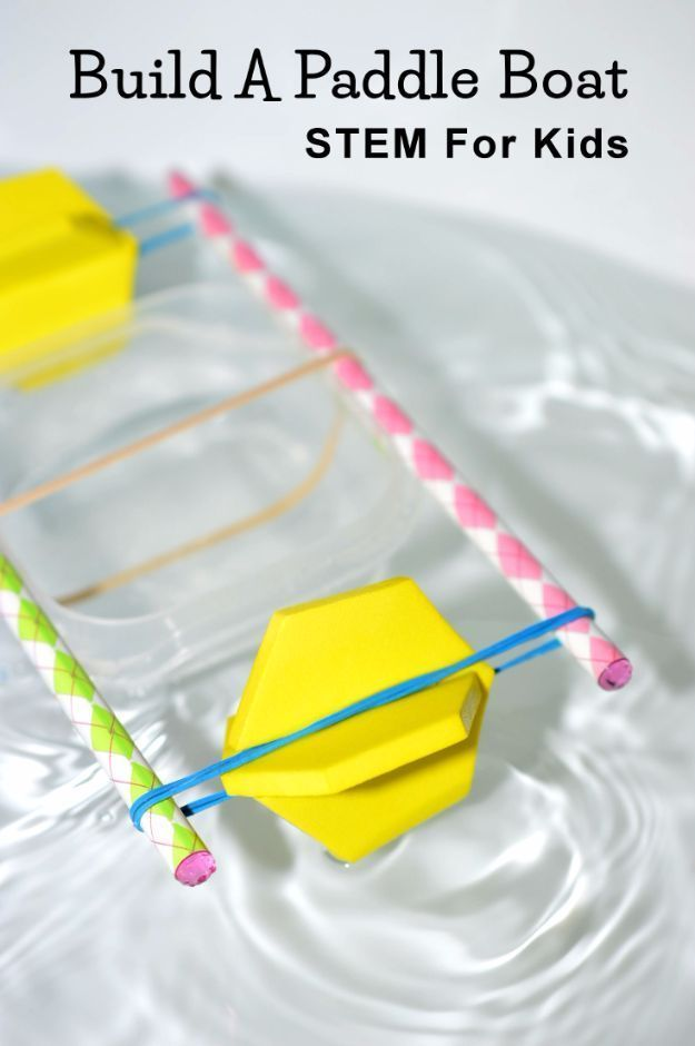 DIY Stem and Science Ideas for Kids and Teens - Build A Paddle Boat - Fun and Easy Do It Yourself Projects and Crafts Using Math, Electronics, Engineering Concepts and Basic Building Skills - Creatve and Cool Project Tutorials For Kids To Make At Home This Summer - Boys, Girls and Teenagers Have Fun Making Room Decor, Experiments and Playtime STEM Fun http://diyjoy.com/diy-stem-science-projects