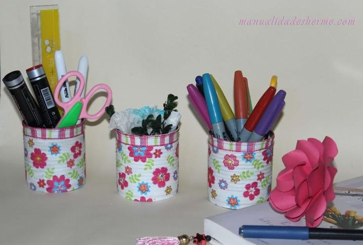 Portalápices DIY con decoupage