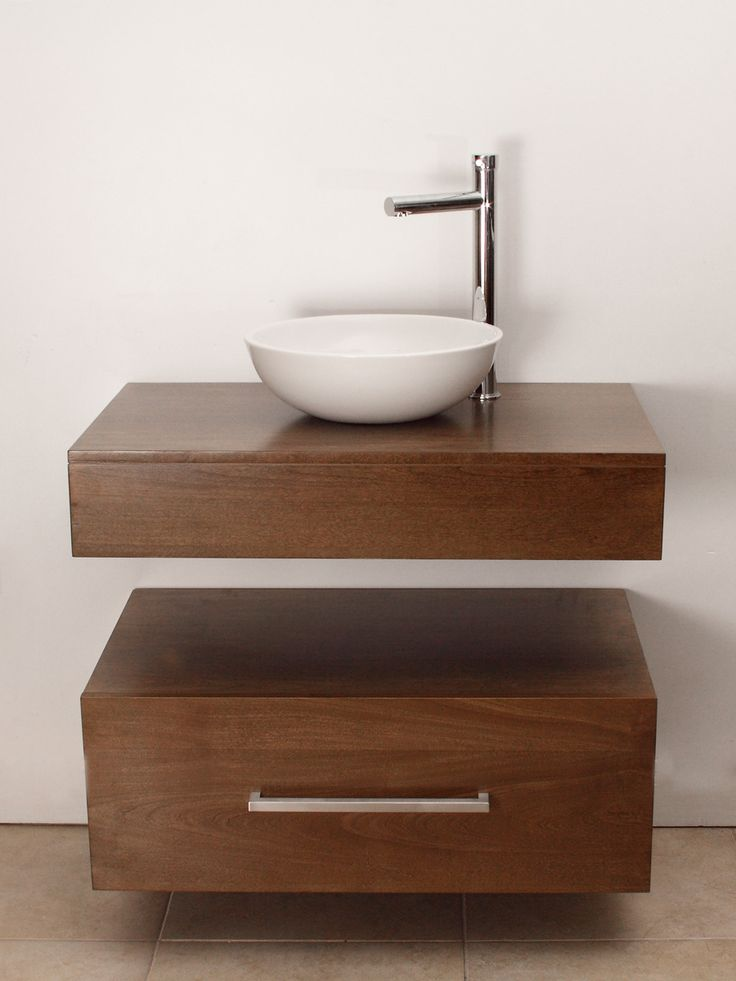 Mueble de ba o aereo con bacha de apoyo ideal para un ba o con poco lugar para comprar via - Mueble de bano antiguo ...