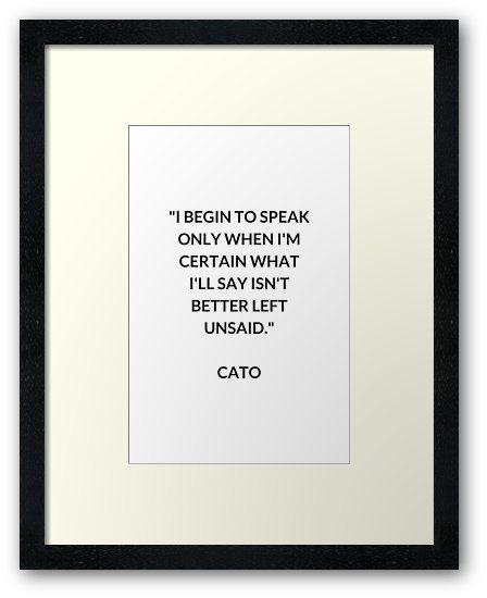 CATO Stoic Philosophy Quote | Framed Print