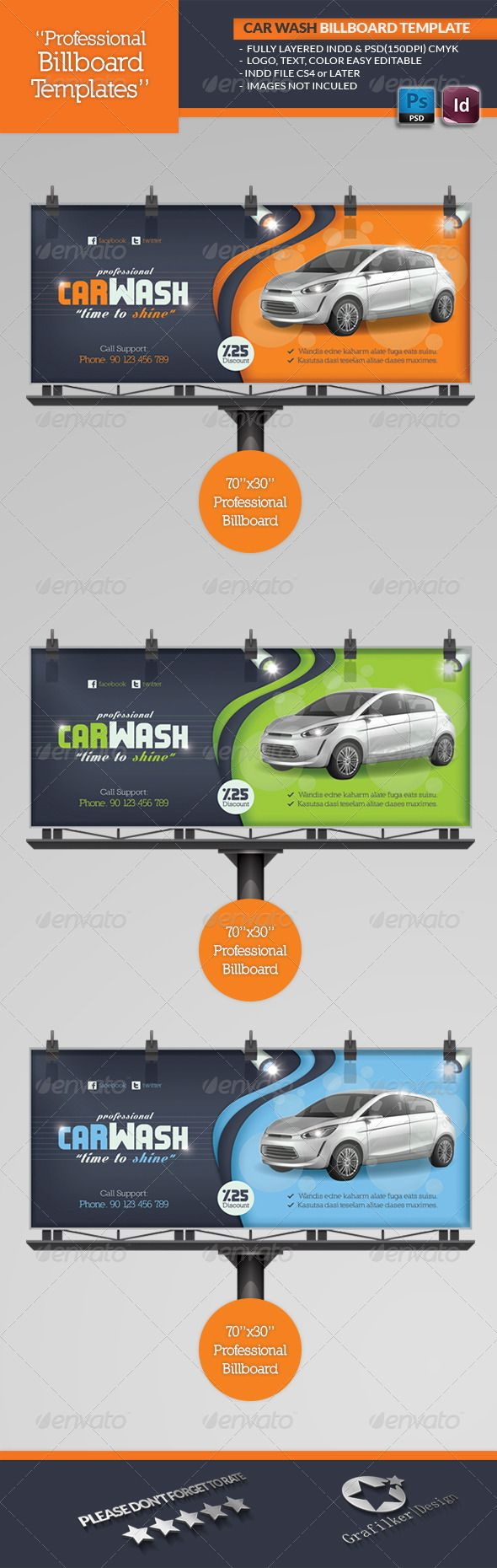 Car Wash Billboard Template #design Download: http://graphicriver.net/item/car-wash-billboard-template/4637393?ref=ksioks