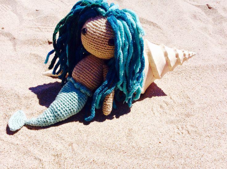 Sirenita playa amigurumi