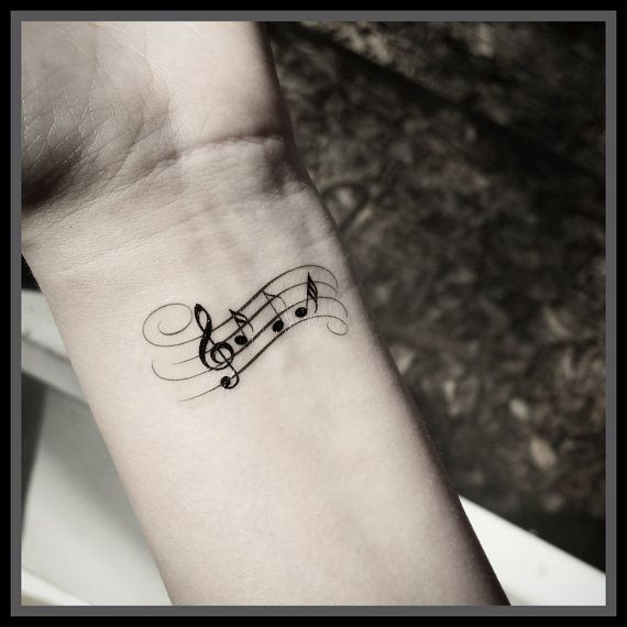 Music note tattoo Temporary tattoos music by SharonHArtDesigns