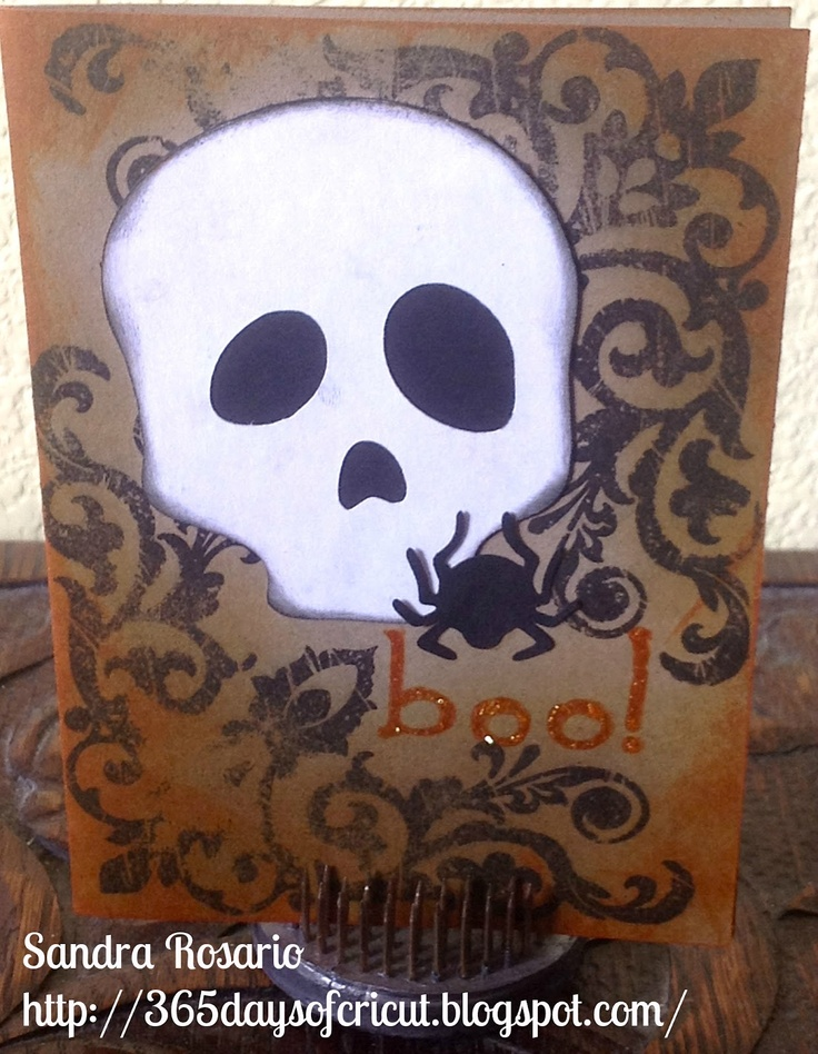 365 Days Of Cricut: #79 Skull Card