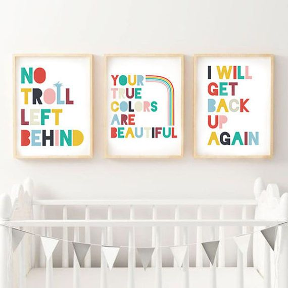 Trolls, Trolls Movie, Poster Download, Trolls Quotes, Trolls Quote, True Colors, Rainbow, Nursery Art, Children's Posters, Bonus 3 Pack