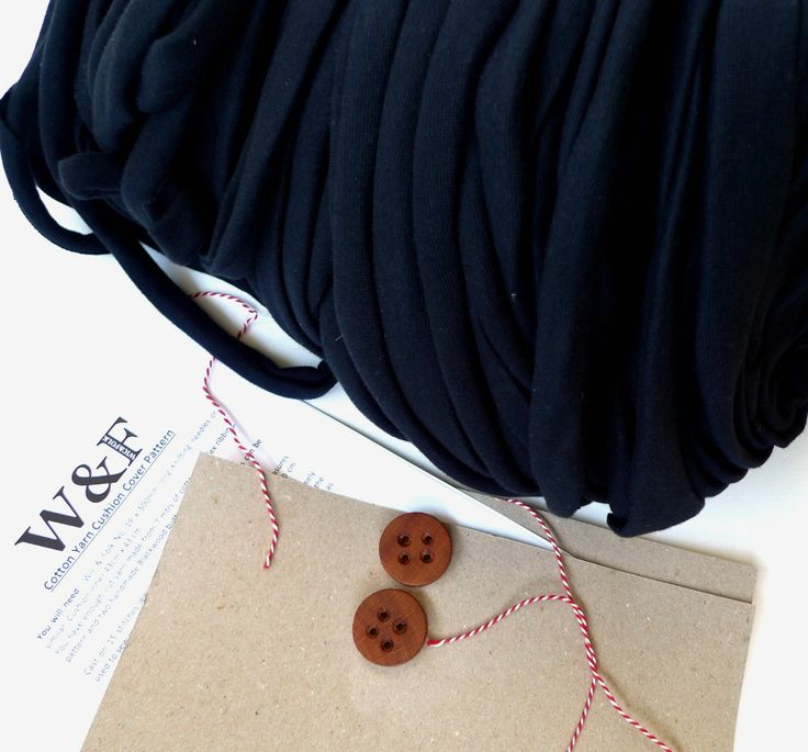 Cotton cushion knitting kit