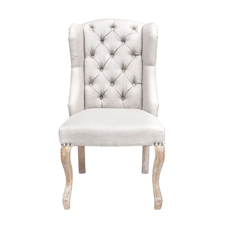 Megan Linen Wing Back - Dining Chairs Online Australia  --------------------------------------------- Enhance your living room with this Off White Wingback Lounge Chair! Featuring high-quality linen over a solid wooden frame with high-density foam and oak legs. This chair effortlessly combines elegance, comfort and function. -------------- #diningroomchairs, #diningchairs