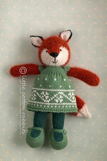 Cute little animals by this designer - faylinn by littlecottonrabbits, via Flickr