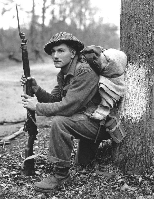 Private Perth Regiment of Canada 1945