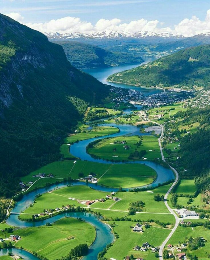 Nordfjord Nordland Norway Cities And View