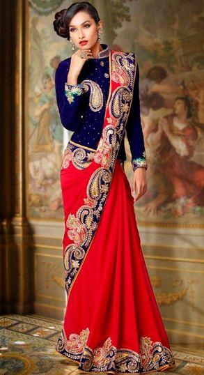 Meant for that Winter wedding! #paisleys #velvetJacket #saree #indianWeddings