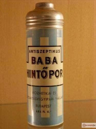 Baba hintőpor - retro babaápolás