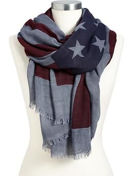 Considering 4th of July is my fave holiday and I love scarves, this is pretty perfect!