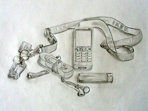 Paper - Pencil - Pocket still life - Realistic - DinA3 #Drawing #regillustroessner