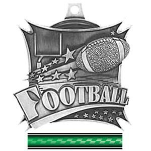 "(WATER KIDS GIFT) Hasty Awards 2.5"" Xtreme Football Medal M-701F"