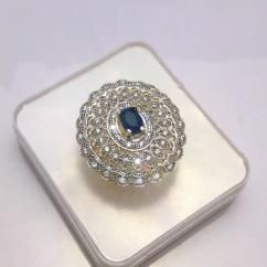 CZ Diamond sapphire cocktail ring  http://crazyberry.in/online-shopping/artificial-imitation-fashion-jewellery/designer-cocktail-cz-diamond-sapphire-blue-gem-stone-adjustable-ring