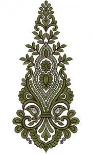 12579 Anarkali Embroidery Design