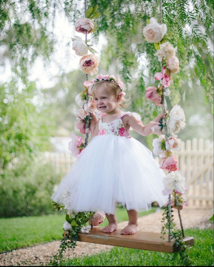 """This tutu dress has gorgeous frill shoulders with a lace trim, the straps finish at the back into a beautiful v and is finished with a  spectacular full twirly white tulle skirt.Size Guide.Newborn. Chest 17"""" Waist 15.5"""" Hip 17.5"""" Height 20""""000. Chest 18.5"""" waist 17.25"""" Hip 19"""" Height 24.5""""00. Chest 19.25"""" Waist. 18.25"""" Hip 19.75"""" Height 25.75""""0. Chest. 20.25"""" Waist 19 Hip 20.5"""" Height. 29.75""""Size 1. Chest 21"""" Waist 19.75"""" Hip 21.25"""" Height 31.5""""Size 2. Chest 22.25"""" Waist 20.75"""" Hip 22.75""""…"""