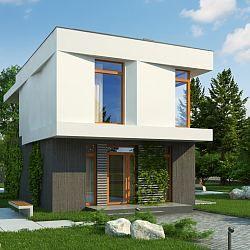 Z397 - piętrowy dom w nowoczesnym stylu z funkcjonalnym wnętrzem...
